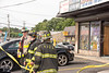 Car drives into building in North Patchogue Sunday, July 13, 2014. A woman driving a Hyundai Sonata accidently hit her gas pedal instead of her brake and drove into the Party Palace Stationary Store on Route 112, just south of East Woodside Ave., at approx. 3:45 p.m. The North Patchogue F.D. and officers from the SCPD's 5th Pct. responded to the scene. No injuries were reported and the buildings department were called to the scene to assess the structural integrity of the building.