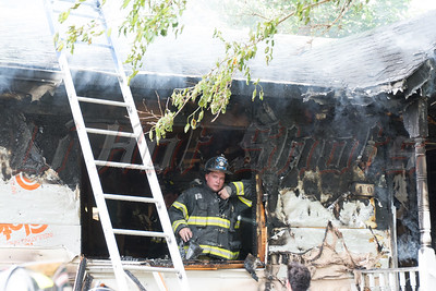 House fire on Maple Road in Rocky Point Thursday, July 24, 2014. Fire occurred at approx. 15:40 hrs.