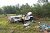 "08/12/2014 07:00 hrs. Eastport OT-Lambui : Overturned truck on Sunrise Hwy. in Eastport Tuesday, August 12, 2014.  The driver of a Ford F-350 was injured when his truck overturned at approx. 7:00 a.m. while traveling east bound on Sunrise Hwy. (Rt. 27) about a 1/2 mile west of exit 63 (Old Riverhead Road). Under the direction of Chief William Weick (05-08-30) firefighters from the Eastport F.D. and officers from the SCPD ESU worked together using the ""Jaws of Life"" to extricate the driver from his vehicle. The driver was transported to the hospital by ambulance with undisclosed injuries. One lane was closed and east bound traffic on Sunrise Hwy. was backed up for almost three miles."