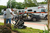 "08/16/2014 10:30 hrs. Mastic MVA-Lambui : Two car accident in Mastic Saturday, August 16, 2014.  The driver of this Pontiac Grand Prix was injured, and transported to a local hospital by ambulance, after being cut out of her car by Mastic firefighters, using the ""Jaws of Life"", when she collided with another vehicle on Montauk Hwy. and Roberts Street in Mastic at just after 10:30 a.m. Saturday morning. Two children who were also in the Pontiac received minor injuries."