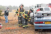 """12/17/2014 07:40 hrs. Center Moriches FD OT MVA : Two car MVA results in one car overturn in Center Moriches Wednesday, December 17, 2014.  A collision between an east bound Buick Skylark and a Chevy pick-up truck resulted in the Skylark overturning and landing right side up. The two car MVA occurred on Sunrise Hwy. (Rt. 27) at the exit 60 Sunrise Hwy. e/b entrance ramp at approx. 7:40 a.m. The Center Moriches F.D. responded as well as the Mastic Volunteer Ambulance and Shirley Volunteer Ambulance. The driver of the Skylark was trapped in his car and needed to be extricated by the C.M.F.D. using the """"Jaw's of Life"""". Both driver's were transported to a local hospital with undisclosed injuries."""