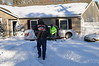 1/22/2014 14:40 hrs Ridge MVA Randall Rd : On 01/22/2014 at approx. 2:40 p.m. the Ridge FD & SCPD 7th Pct. responded to this car into a house at 177 Randall Rd. on the corner of Bradley Dr. An elderly gentleman apparently lost control while heading north bound on Randall, bounced off a large plow (tearing apart the rear passenger door), and then careened into the occupied house. It was reported there was a baby sleeping in a room, next to the room that was struck, and was unharmed. There was damage to the house. The driver of the Lincoln Town Car was injured and transported to the hospital by Ridge FD ambulance.
