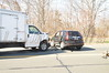 04/09/2014 1515 hrs Riverhead Main Rd & Edgar Ave MVA-Lambui : Car vs. truck in Riverhead Weds., April 9, 2014. At approx. 15:15 hrs. the Riverhead P.D. and Riverhead Volunteer Amb. Corps. were notified, and responded, to this MVA on Main Rd. (Rt. 25) between Union Ave. and Edgar Ave. involving a Honda CRV and a box truck from Braun Seafood. Both vehicles were traveling east bound on Rt. 25 when the driver of the Honda CRV made a U-turn and was struck by the box truck. The male driver and his female passenger in the CRV were injured as was the driver of the box truck. All three were transported to Peconic Bay Medical Center with non-life threatening injuries. The Mattituck F.D. also responded to the scene on mutual aide under the command of Chief Tirelli (08-06-30).