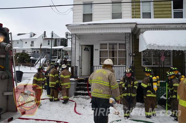 Schuylkill County - Mahanoy City - Basement Fire - 02/18/2014