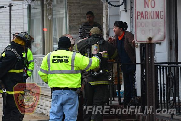 Schuylkill County - Shenandoah Borough - Smoke in House - 01/02/2014