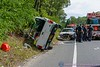 2015/09/13 Yaphank OT MVA : Accident in Yaphank Sunday September 13, 2015. At approx. 14:00hrs. a collision occurred on Yaphank Middle Island Road (C.R. 21), near Cathedral Pines County Park, between a Suffolk County Parks Ranger police vehicle and a Ford Ranger pickup truck. The pickup driver was trapped in his vehicle and had to be extricated by the SCPD Emergency Service Unit officers along with the assistance of the Yaphank Fire Dept. The injured pickup driver was transported by Yaphank F.D. ambulance to Brookhaven Memorial Hospital. The Parks Rangers injuries were unknown at this time. Yaphank Middle Island Road was closed in both directions for a crime scene investigation.