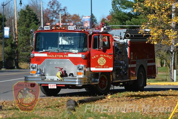 Luzerne County - Hazleton City - Apartment Building Fire - 11/07/2016