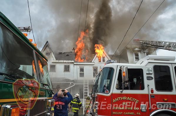 Northumberland County - Mount Carmel - Rowhome Fire - 04/26/2016