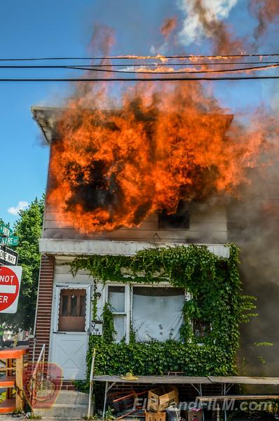 Schuylkill County - Shenandoah Borough - Multiple alarm fire - 06/22/2016