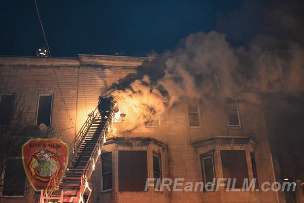 Schuylkill County - Shenandoah Borough - 3 Alarm Building Fire - 02/14/2016