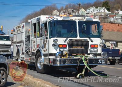 Schuylkill County - City of Pottsville - Vehicle Fire - 03/09/2016