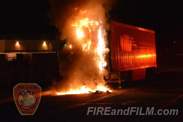 Luzerne County - Hazle Twp. - Tractor Trailer Fire - 01/30/2017