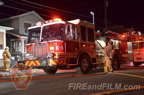 Luzerne County - West Hazleton Borough - Basement Fire - 01/28/2017
