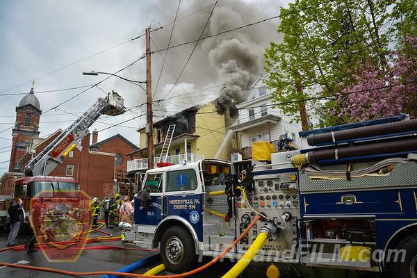 Schuylkill County - Minersville Borough - Dwelling Fire - 4/26/2017