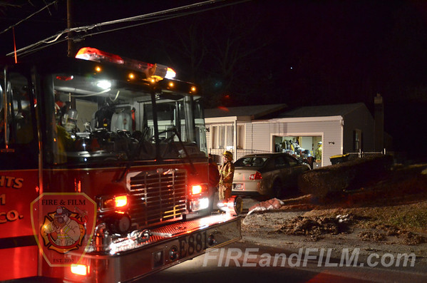 Schuylkill County - West Mahanoy Twp. - Garage Fire Dispatch - 01/27/2017