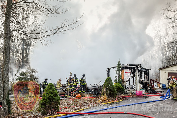 Schuylkill County - East Union Twp. - House Fire - 11/11/2017