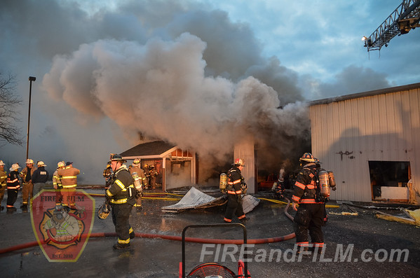 Schuylkill County - Hegins Twp. - Commercial Structure Fire - 01/28/2017
