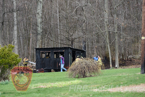 Schuylkill County - Butler Twp. - Brush / Shed Fire - 04/24/2018