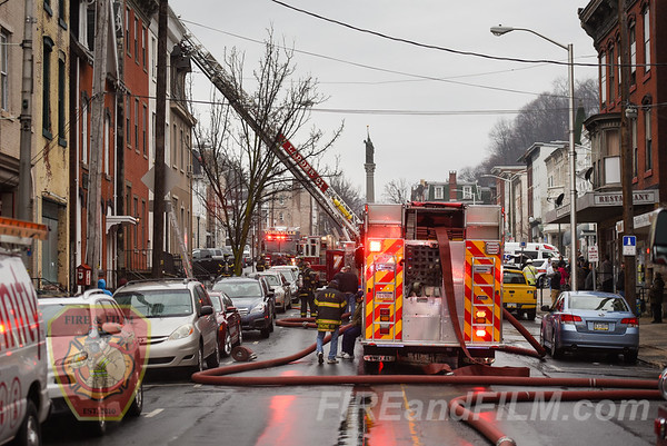 Schuylkill County - Pottsville City - Building Fire - 01/28/2018
