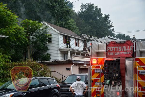 Schuylkill County - Pottsville City - Dwelling Fire - 08/17/2018