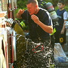 Lt. Timothy Shea cools off <br /> <br /> Photo Scott LaPrade