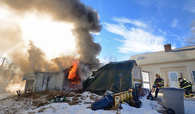 Gardner and Westminster FFs operate at a 2nd Alm garage fire at 16f High St on Dec 30 2013. FFs from Westminster and Hubbardston assisted at the scene.