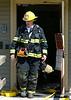 Gardner Lieut Craig Osowski exits the Heywood Hospital Annex on Matthews St. during a Working Fire. SENTINEL&ENTERPRISE/ Jim Marabello