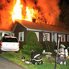 153 Granite St Leominster heavy fire vents through the roof - a young couple and their chlld escaped the fast moving blaze