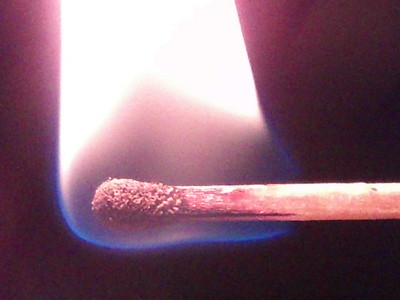 Holding Match Closeup