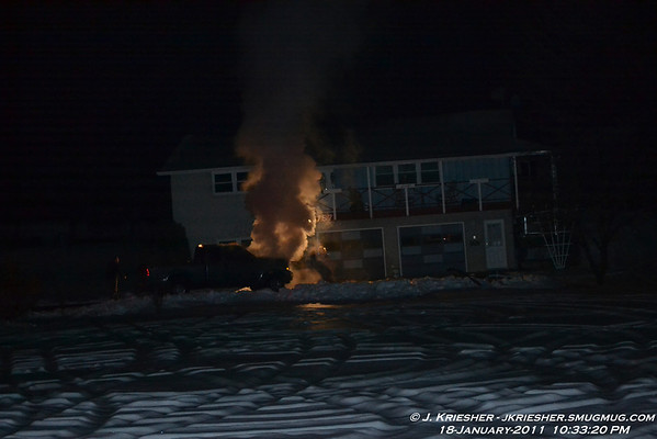 Maple St. Vehicle Fire - 1/18/2011
