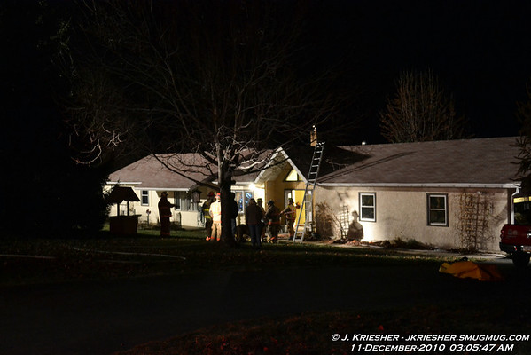 Washington Twp. Chimney Fire 12/11/2010