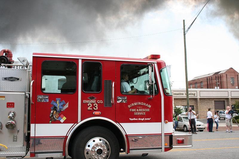 shoe warehouse fire on the corner of 1st Av South and 15th Street June 8,2006