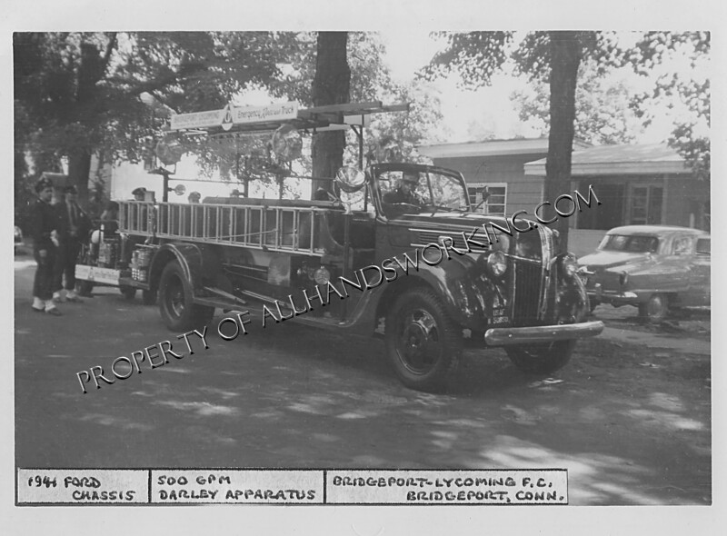 Bridgeport Lycoming 1941 Ford Darely fire apparatus 500gpm Bridgeport, CT