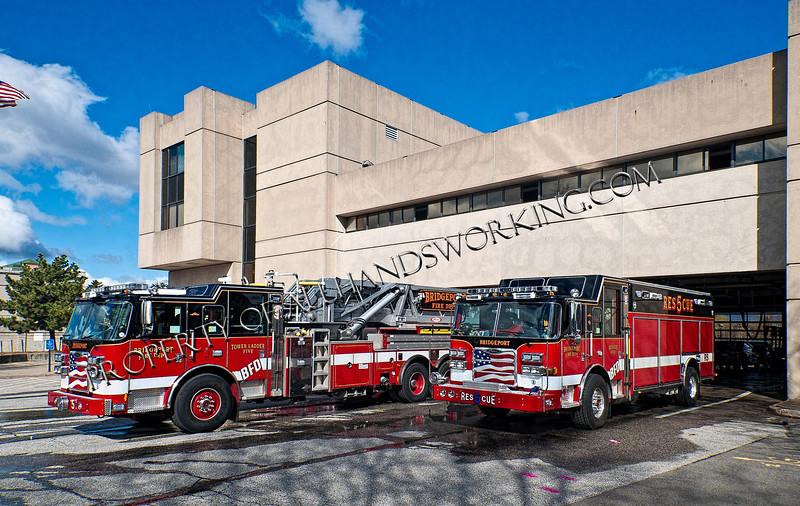Bridgeport Rescue 5 and Tower Ladder 5