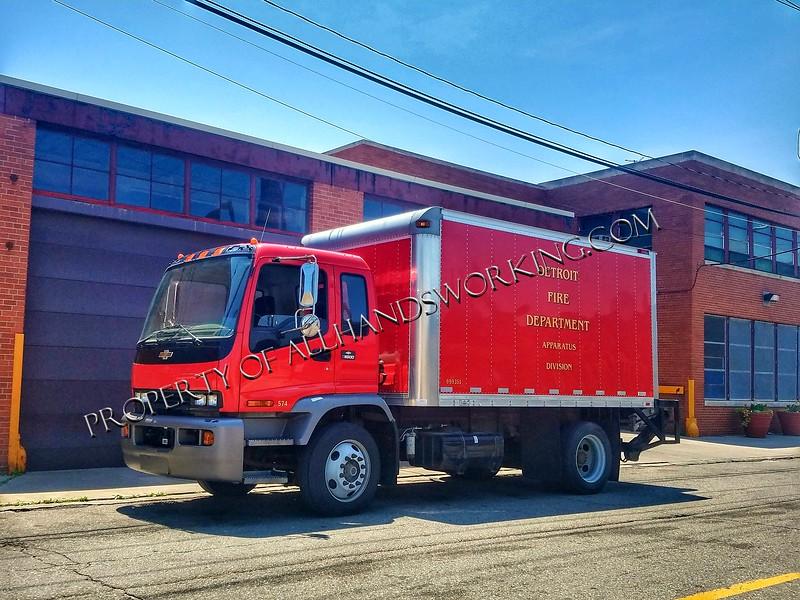 Detroit Fire Apparatus Division truck