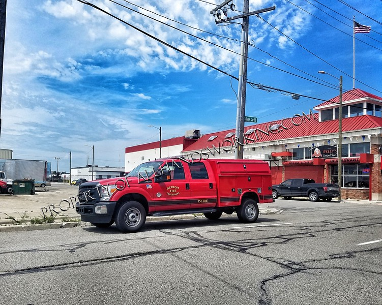 Detroit Fire Marshal vehicle