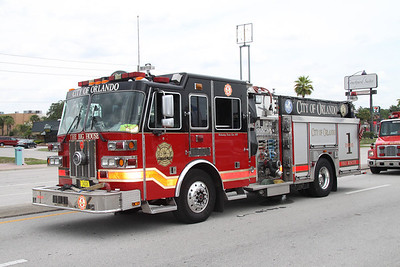 City of Orlando Fire Dept E-1 Stutphen pumper.