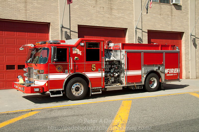 Hackensack NJ Engine Co.5, 2008 Pierce Contender 1500gpm/750gwt pumper