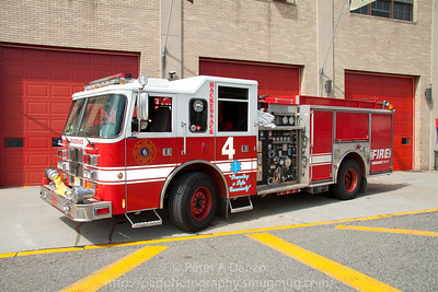 Hackensack NJ Engine Co.4, 2001 Pierce Dash 1500GPM/750GWT pumper