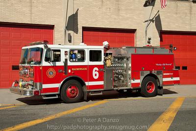 Hackensack NJ spare Engine 6, 1995 Seagrave 1500gpm/750gwt pumper.