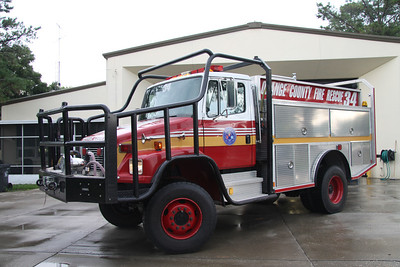 Orange County FL Fire/Rescue Brush 34, 2001 American LaFrance/Freightliner 350GPM/750 brush truck.
