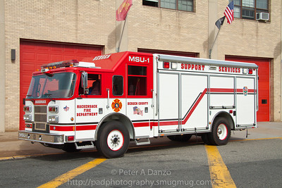Hackensack NJ MSU-1, 2005 Pierce Saber cascade truck, 6 bottle cascade system, on board breathing air compressor, carries 100 spare SCBA bottles.
