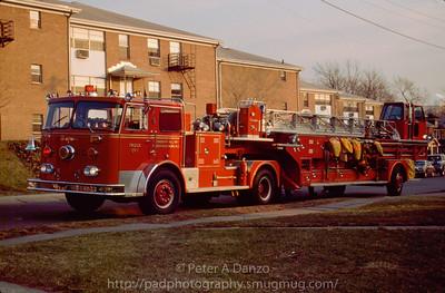 Ridgefield Park NJ Ex-Truck 1, 1979 Seagrave 100' TDA.