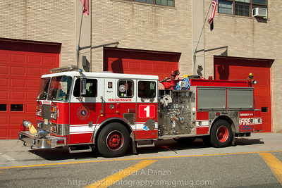 Hackensack NJ Engine Co.1, 1996 Seagrave 1500gpm/750gwt pumper.