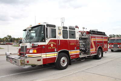 City of Kissimmee Fire Dept E-14 Pierce Quantum pumper.