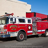 1981 Mack CF600 pumper, privately owned by Hire-A-Firetruck NJ, Ex-Muir PA and Lawnton PA.