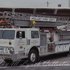 Holley FD - Quint 40 - Retired - 1976 Hendrickson E-One - 1500GPM 500Gal 55' - I purchased this slide, Photographer is Unknown.