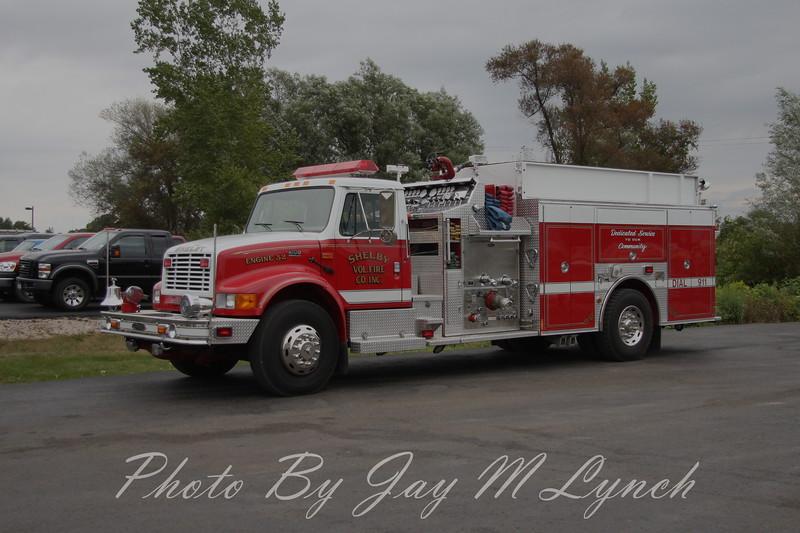 Shelby FD - Engine 32 - 2000 International 4900 / Pierce Suburban - ? / ?