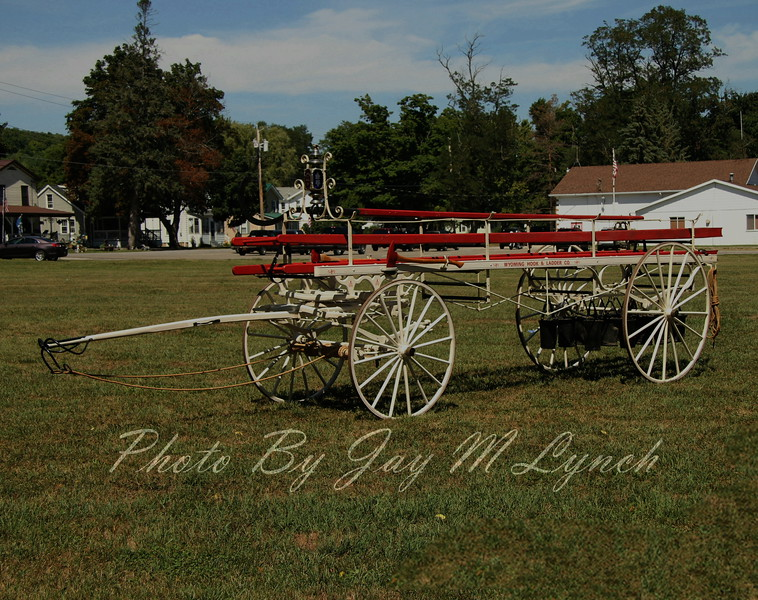 Wyoming FD - Antique - 1898 Ladder Wagon Locally Built