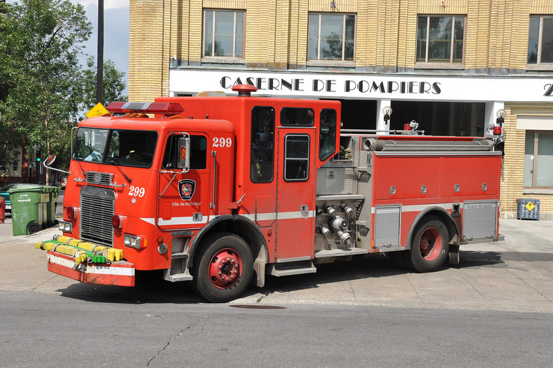 Montreal FD Spare Eng. 299<br /> 1992 Freightliner COE/Anderson<br /> 1050/500